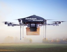 Amazon's delivery drone image in order to show how technology is advancing rapidly